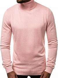 Ružový trendy sveter OZONEE B/95008