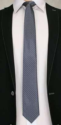 Šedá vzorovaná kravata