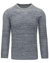 Senzačný pletený sveter v sivej farbe