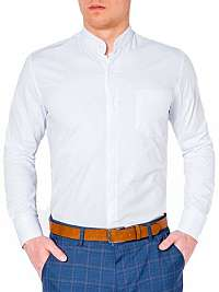 Štýlová biela košeľa k307