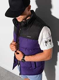 Štýlová fialová prešívaná vesta V36