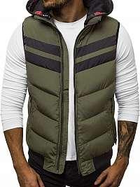 Štýlová zelená pánska vesta N/5803
