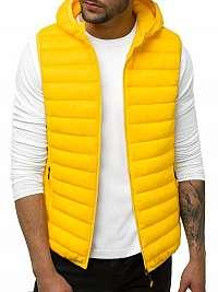Štýlová žltá vesta s kapucňou JS/LY36