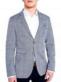 Tmavo modré pánske sako v elegantnom štýle m92