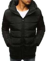 Trendová prešívaná bunda v čiernej farbe - S