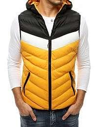Trendová žltá prešívaná vesta