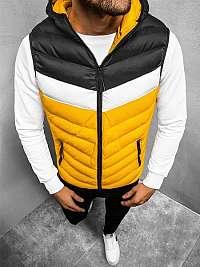 Trendová žlto-čierna vesta JS/HDL88004Z
