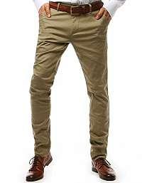 Trendy béžové chinos nohavice