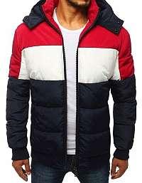 Trendy granátová prešívaná zimná bunda