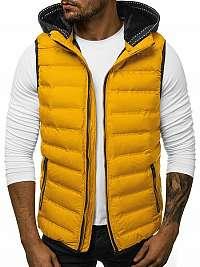 Trendy prešívaná žltá vesta N/5802