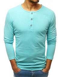 Tričko s dlhým rukávom v krásnej mätovej farbe