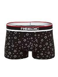 Vzorované pánske boxerky čierne  R/G524