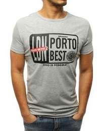 Zaujímavé šedé tričko PORTO BEST