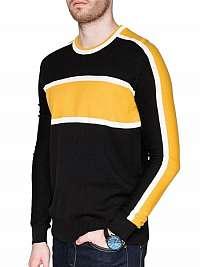 Zaujímavý žltý pánsky sveter e145