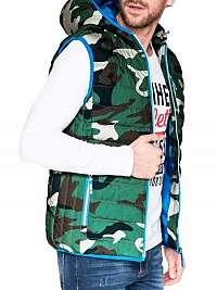 Zelená prešívaná vesta v24