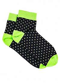 Zelené bodkované ponožky U14