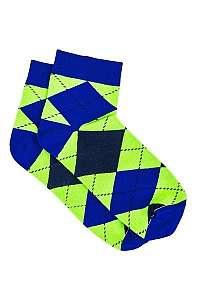 Zelené kárované ponožky U16