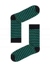 Zelené ponožky cik-cak pre pánov