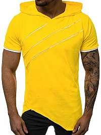 Žlté asymetrické tričko pre pánov O/1185