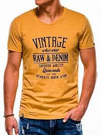 Žlté atraktívne tričko s1163