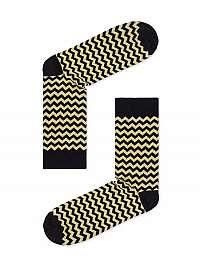 Žlté cik-cak ponožky