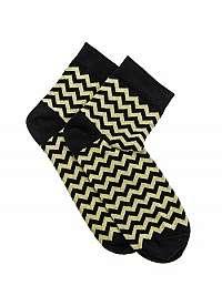Žlté členkové cik-cak ponožky U11