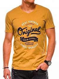 Žlté moderné tričko s1157 s potlačou