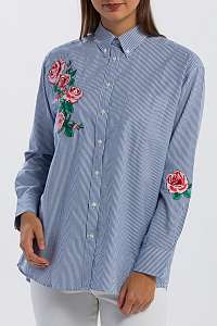 KOŠEĽA GANT O1. EMBROIDERED ROSE SHIRT