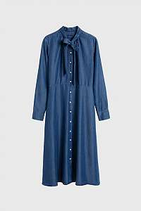 ŠATY GANT D1. CHAMBRAY BOW SHIRT DRESS