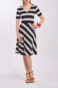 ŠATY GANT D2. STRIPED V-NECK DRESS