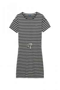 ŠATY GANT O. DROPPED SHOULDER STRIPED DRESS