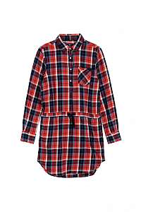 ŠATY GANT TG. FLANNEL CHECK SHIRT DRESS