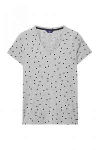 TRIČKO GANT O. DOTTED FLUID V-NECK T-SHIRT