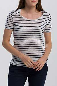 TRIČKO GANT O2. STRIPED LINEN SS T-SHIRT
