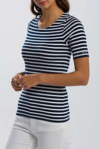 TRIČKO GANT STRIPED 1X1 RIB SS T-SHIRT