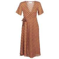 Betty London  Dlhé šaty KEYLA  Hnedá