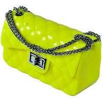 John-C  Spoločenské kabelky Dámska žltá kabelka PREFE  Žltá