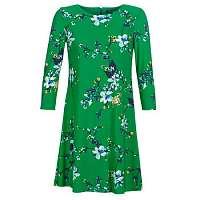 Lauren Ralph Lauren  Krátke šaty FLORAL PRINT-3/4 SLEEVE-JERSEY DAY DRESS  Zelená