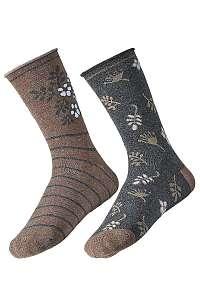 2 pack dámskych ponožiek Flower