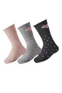 3 pack detských hrejivých ponožiek Love