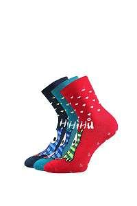 3 pack hrejivých ponožiek Sova