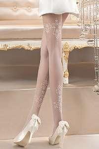 Ballerina Luxusné pančuchové nohavice Pearl 118 biela S/M