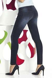 Basbleu Dámske legíny v džínsovom dizajne Timea modrá L