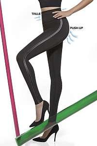 Basbleu Mid - Sťahovacie legíny Angelica s Push-Up efektom ČIERNA 4