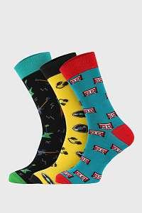 Bellinda 3 PACK vysokých ponožiek Bellinda Crazy Hobby viacfarebná-46