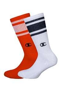 Champion 2 pack vysokých oranžovo-bielych ponožiek Champion farebná-42