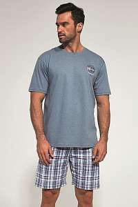 Cornette Sivé pyžamo Regatta modrá M