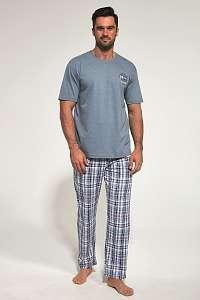 Cornette Svetlosivé pyžamo Regatta II modrá XL