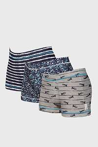 Cotonella 3 PACK chlapčenských boxeriek Wave modrá 6