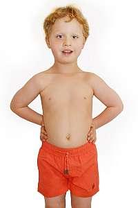 David Chlapčenské plavky Leonard Red oranžová 2
